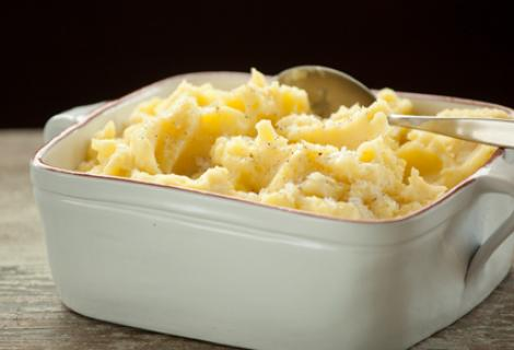 mashed potatoes and parsnips
