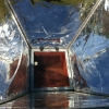 Inside of a solar cooker