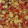 Roasted corn and Fresno chile salsa